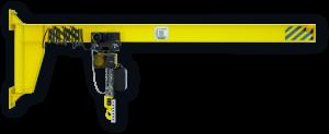 Кран консольный настенный с ручным поворотом консоли ККР1