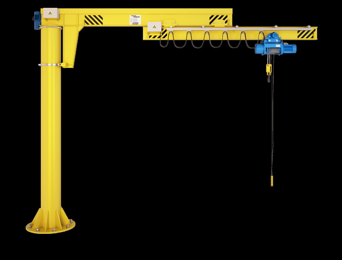 Кран консольный с телескопической стрелой