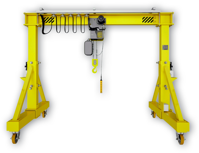 Мобильная крановая установка с телескопическими «ногами» с ручным приводом