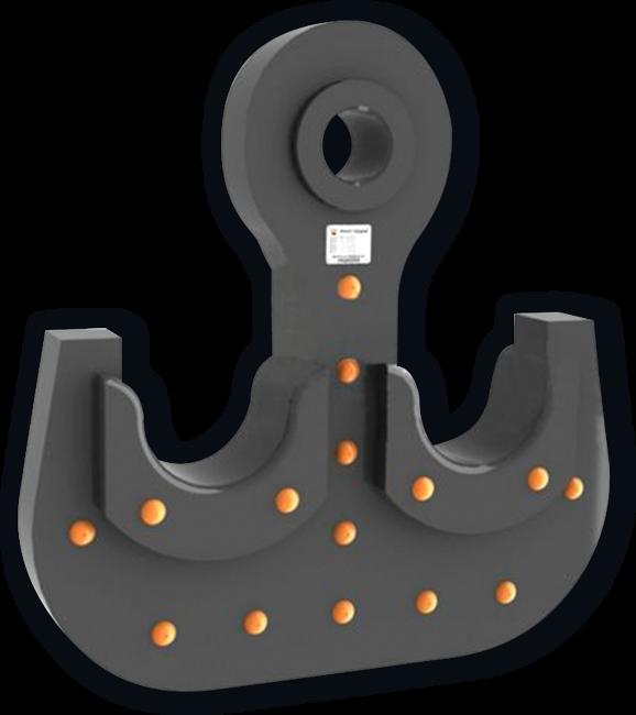 Крюк пластинчатый двурогий ГОСТ 6619-75
