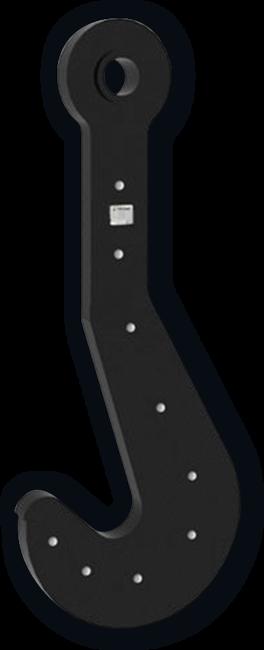 Крюк пластинчатый однорогий ГОСТ 6619-75