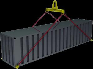 Траверса для контейнеров ручная ТрК10