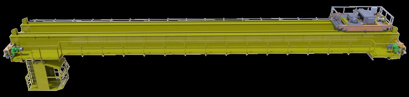 Кран мостовой опорный двухбалочный грузоподъемностью 10,0 тонн