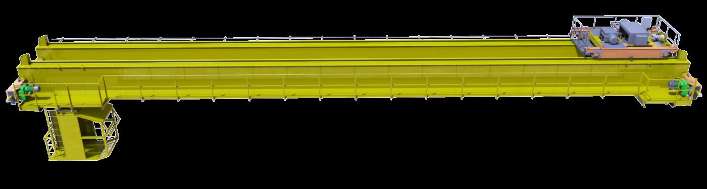Кран мостовой опорный двухбалочный грузоподъемностью 30,0 тонн