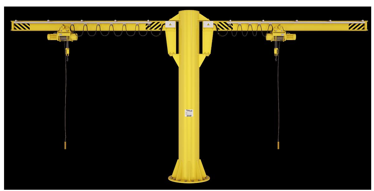 Кран двухконсольный на колонне