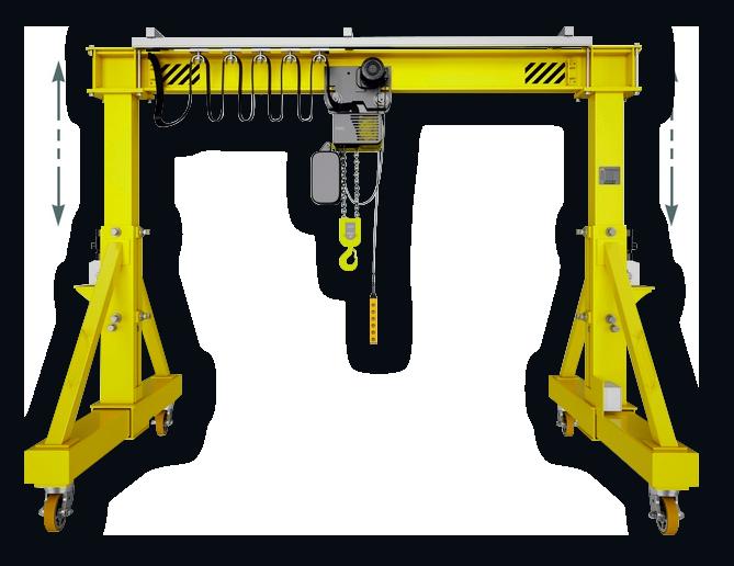Мобильная крановая установка с телескопическими «ногами» с электрическим приводом