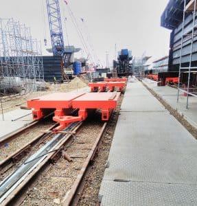 Поставка тележек передаточных для строительства ж/д моста в Крым 360 тонн