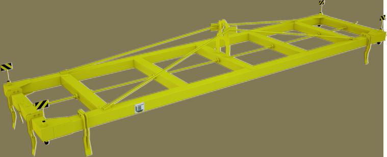 Траверса для контейнеров полуавтоматическая ТрК3